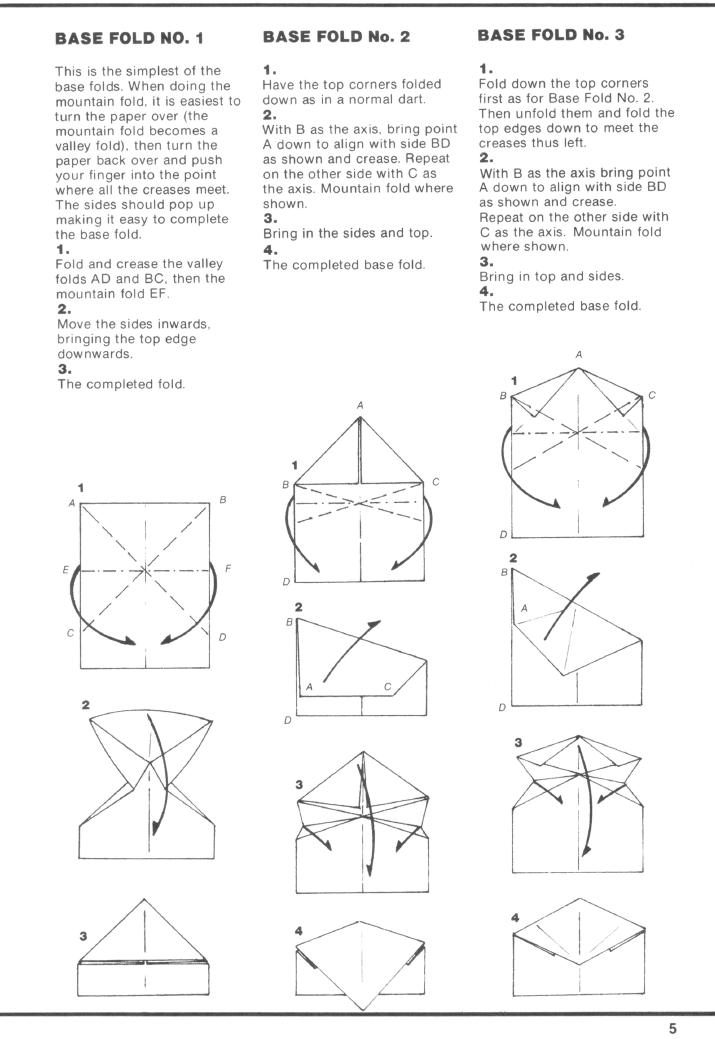 Glider Paper Airplane Instructions