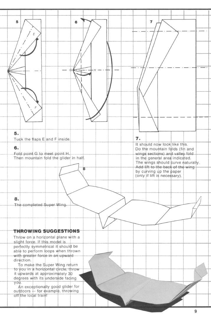 Как сделать из бумаги самолет который возвращается